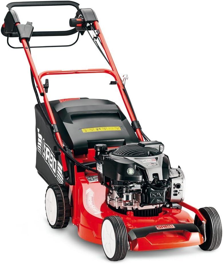 SABO 47-Vario E Instart Turbostar - Cortacésped de gasolina con tracción variable y encendido de llave