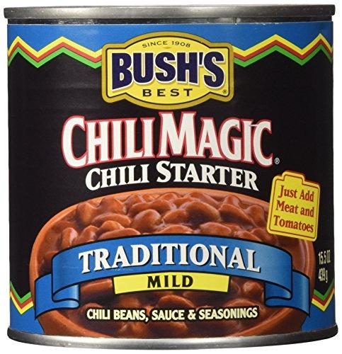 Bush's Chili Magic Chili Starter: Traditional Mild (3 Pack) 15.5 oz Cans