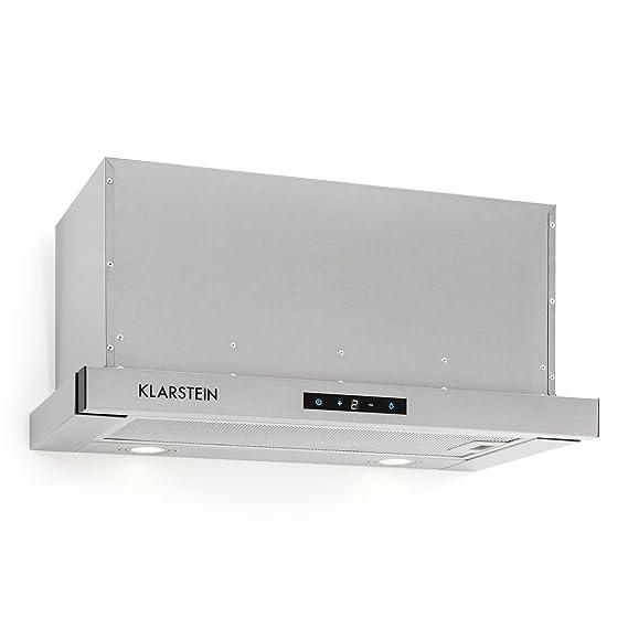 Klarstein Vinea Campana extractora de bajo mueble - Vidrio de seguridad , 60 cm ancho , Extraíble , 610 m³/h máx. extracción humo , iluminación , ...