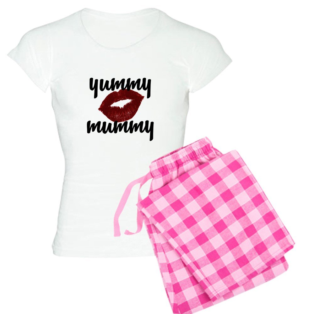 Amazon.com: CafePress yummy mummy Pajamas - Womens Novelty Cotton Pajama Set, Comfortable PJ Sleepwear: Clothing