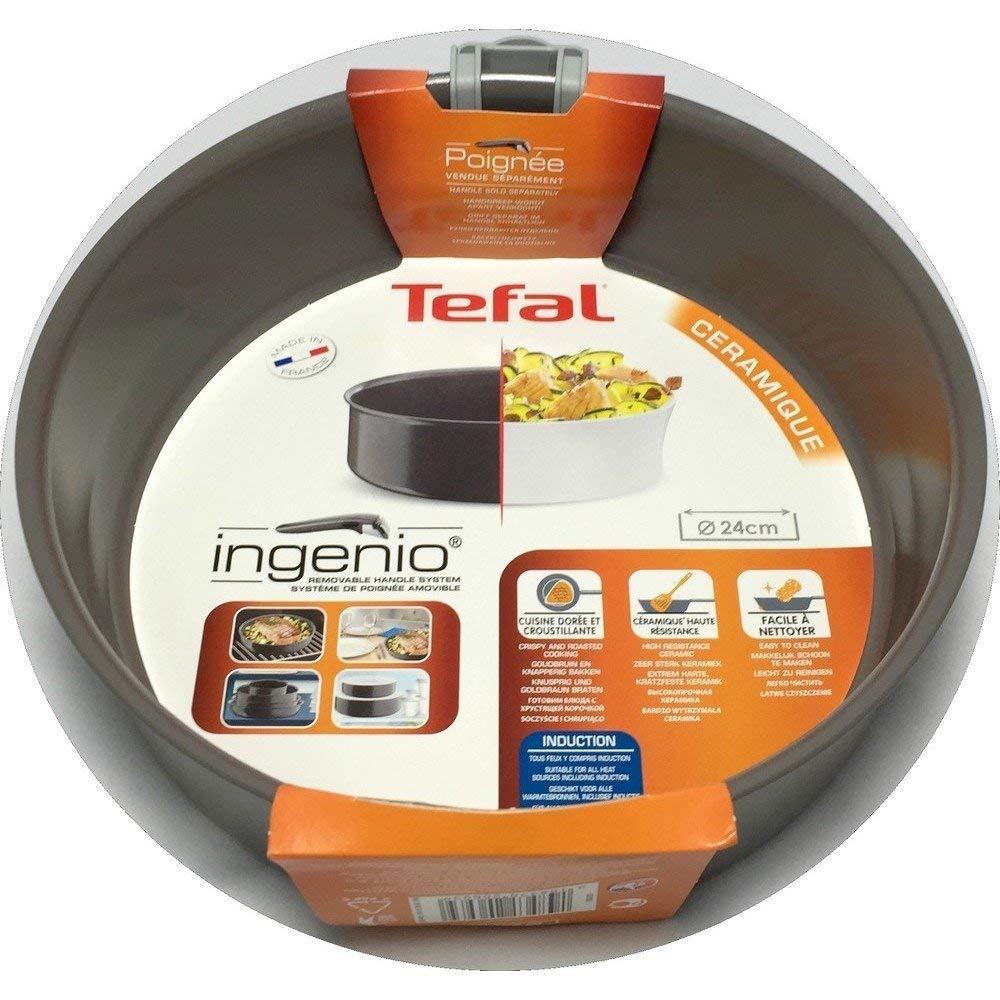 Tefal L2513502 Ingenio - Sartén sin Mango (cerámica, Apta para Todos los Fuegos Incluso inducción, 24 cm): Amazon.es: Hogar