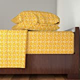 Roostery Moirarae 3pc Sheet Set Jazz Mutes by Moirarae Twin Sheet Set made with