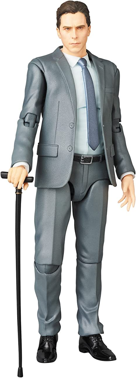Medicom The Dark Knight Trilogy: Bruce Wayne Maf Ex Action Figure, Grey, Brown, One-Size