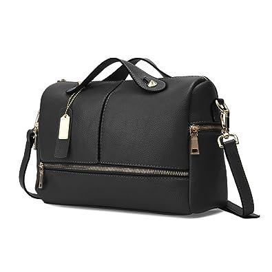 9882a0d15fca OURBAG Womens Top Handle Satchel Handbags Tote Designer Purse Black Medium