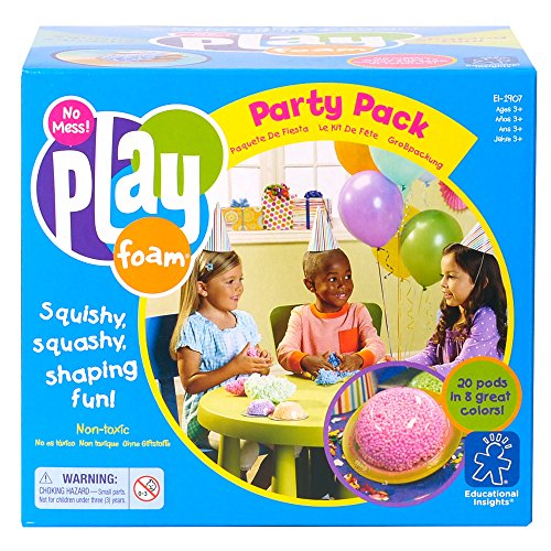 Educational Insights Playfoam Fun Pack of 20 Playfoam Pods in 8 Colors - Everlasting Squish Perfect for Parties, Classrooms, and Sensory -