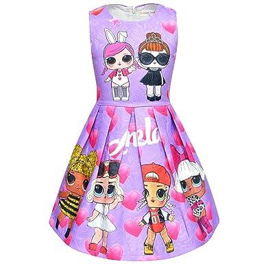 Amazon.com: UPSTONE LOL vestido de vestir para niñas| Rosa ...