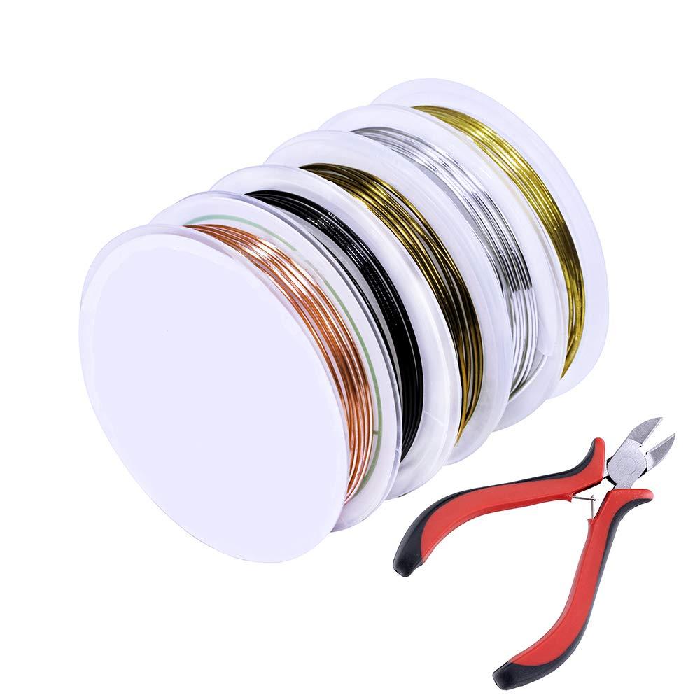 uGems 22 Gauge .999 Fine Silver Round Wire 0.025 Qty=5 Feet