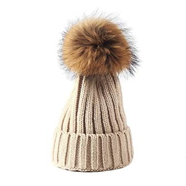 89b40a0633bd4 xsby Knitted Cozy Warm Winter Snowboarding Ski Hat with Pom Pom ...