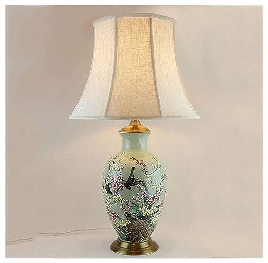 Lámparas de escritorio Lámpara de sobremesa, pintada a mano ...