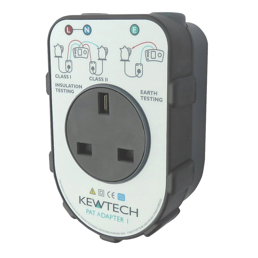 Kewtech PATADAPTER1 Portable Appliance Adaptor Box For 17th Edition Multifunction Testers