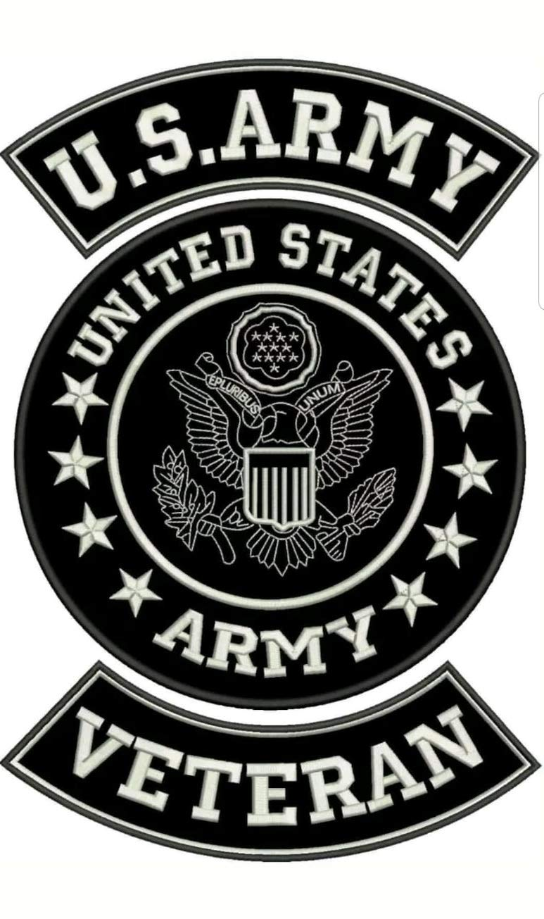 CGI US Army Veteran Black Patch Set for Biker's Jacket by CGI