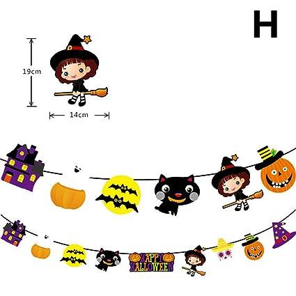 Amazon.com: Horror HLW_4U Guirnalda de papel para Halloween ...