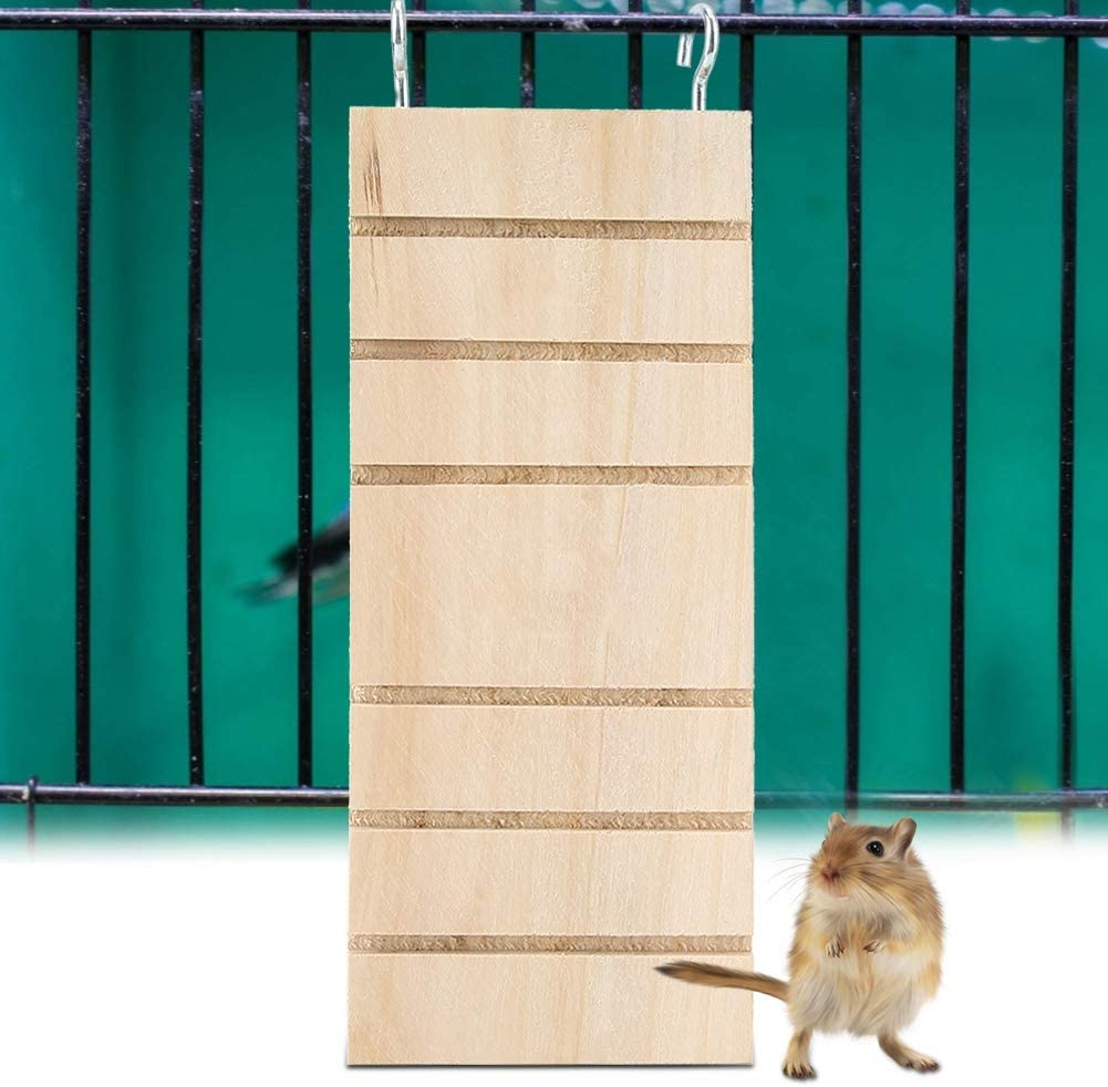 Gabbia per orsi dorati Ponte in legno Installa in piattaforma Trespolo per criceto siriano Riccio Gerbilli Scaletta in legno per animali domestici Criceto Stand per uccelli Giocattolo con piattaforma