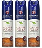 Guardsman Clean & Polish For Wood Furniture - Woodland Fresh - 12.5 oz - Silicone Free, UV Protection - 460700 (3 PACK)