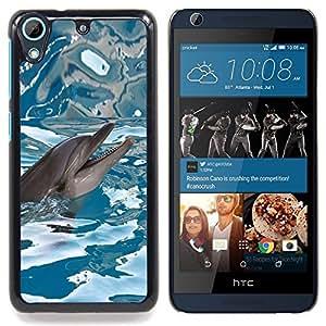 - happy dolphin water sea blue reflection/ Duro Snap en el tel??fono celular de la cubierta - Cao - For HTC Desire 626 & 626s