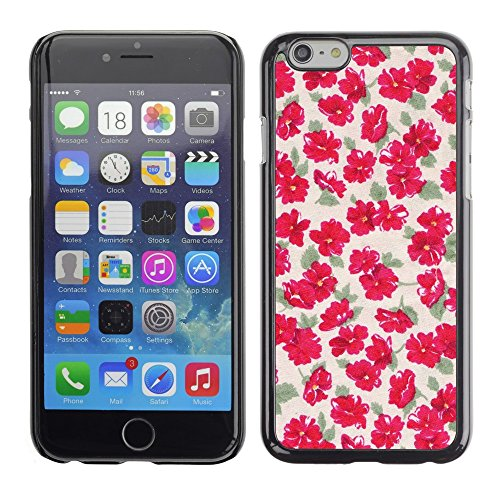 Soft Silicone Rubber Case Hard Cover Protective Accessory Compatible with Apple iPhone? 6 (4.7 Inch) - flowers wallpaper vintage pink