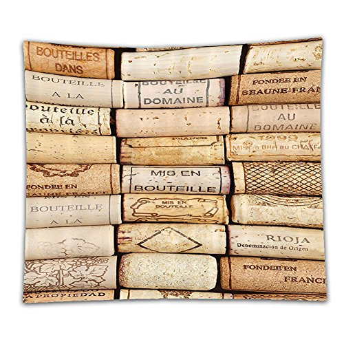 Beshowereb Fleece Throw Blanket Beshowereb Fleece Throw Blanket Beshowereb Fleece Throw Blanket Winery Decor Collection Different Wine Corks Arranged in a Line Collections French Aged Fine Wine Art