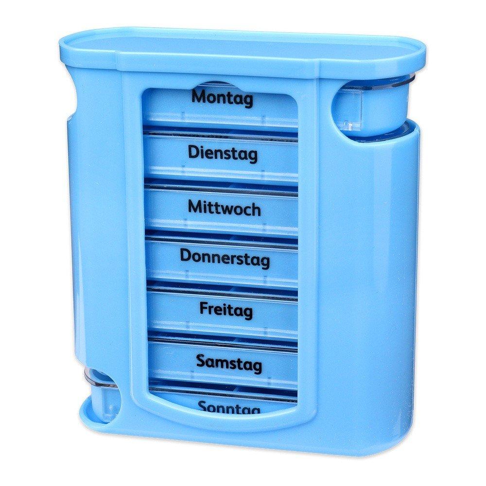 S//o/® pastillas Caja azul con cremallera azules 7/d/ías IP4PILCASCOV PILL Box Caja Pastillero/ /Pastillero para cajas de pastillas p/íldora latas IP4PILCASCOV PILL lata Semana Dosificador