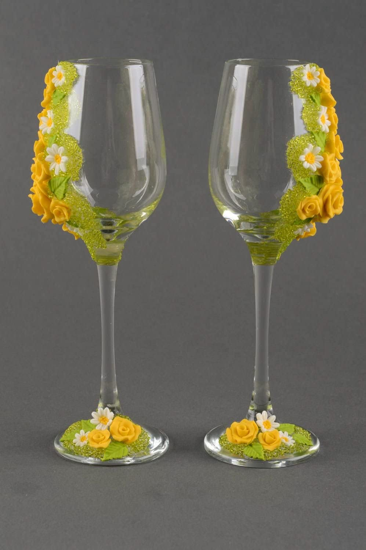 Copas para boda hechas a mano con canutillos vasos de cristal regalo original: Amazon.es: Hogar