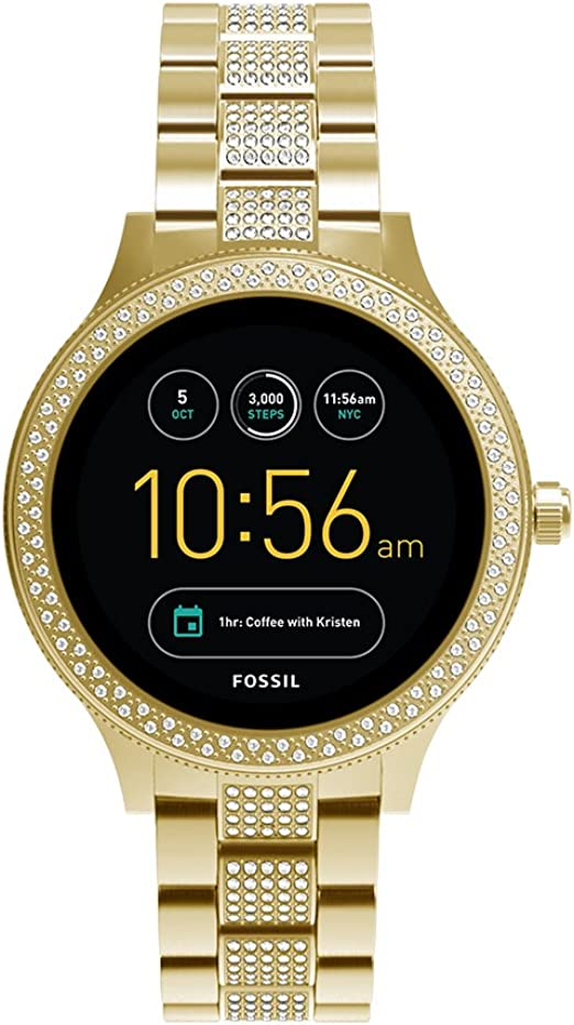 Fossil Q Womens Gen 3 Venture Stainless Steel Smartwatch, Color: Gold-Tone (Model: FTW6001)