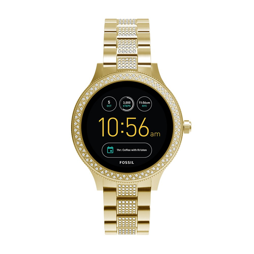 Fossil Q Women's Gen 3 Venture Stainless Steel Smartwatch, Color: Gold-Tone (Model: FTW6001) by Fossil