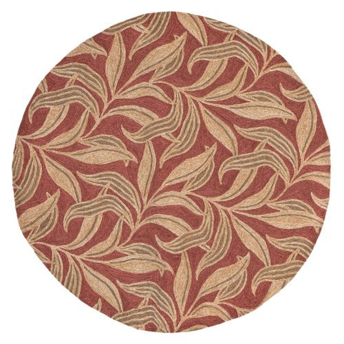 Bay Isle Home Demirhan Red Leaf Outdoor Rug ()
