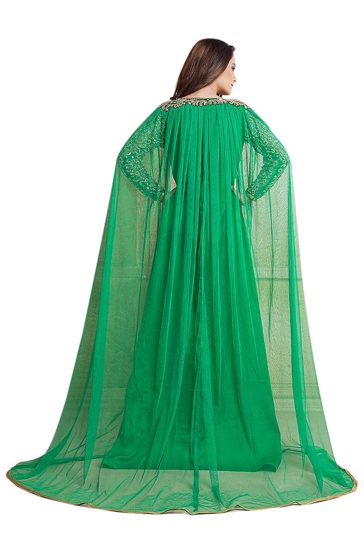 Kolkozy Fashion Women's Designer Handmade Arabic Long Sleeve Wedding Caftan