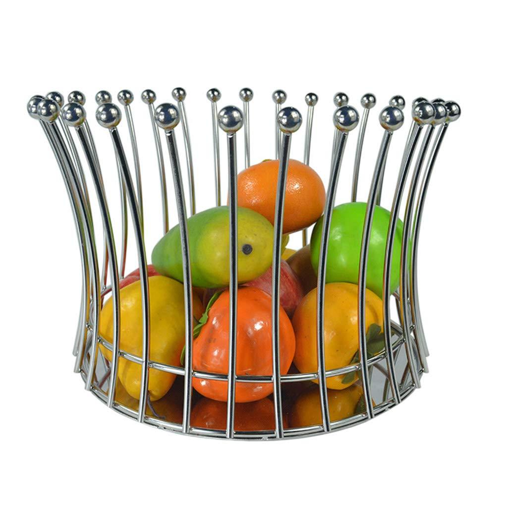 YLGROUP フルーツバスケット - ステンレススチールトレイバスケット野菜とフルーツプレートのリビングルームの装飾ステンレス鋼 -02365   B07R3V9WSC