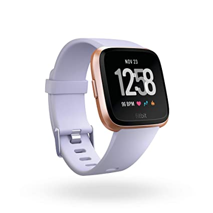Fitbit Versa Smart Watch - Periwinkle/Rose Gold One Size (S & L Bands Included)
