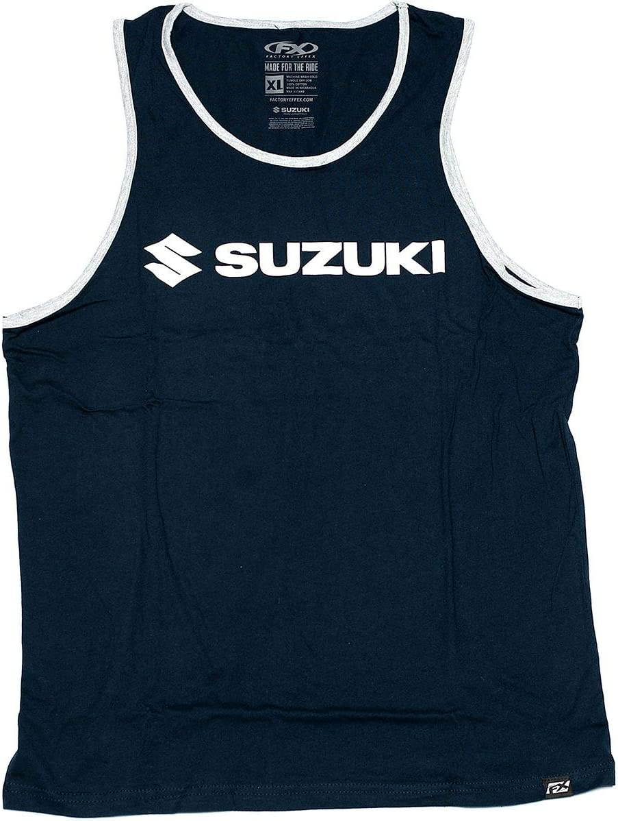 Navy//Heather Grey Factory Effex Suzuki Horizon Tank Medium