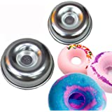 tyoungg 2 Pieces Assorted Size Metal Donut Bath Bath Bomb Molds to Make Unique Cute Homemade or Business Bath Bombs(DONUTS)