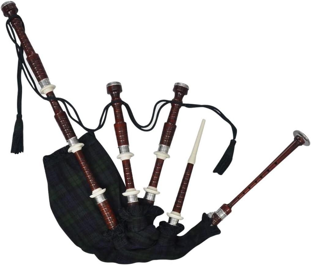 vidaXL Gaita escocesa modelo Great Highlands color tartán verde y rojo madera sheesham: Amazon.es: Instrumentos musicales