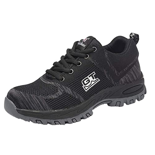 Men//Women Safety Shoes Steel Toe Trainers Cap Work Boots Hiking Shoes Breathable