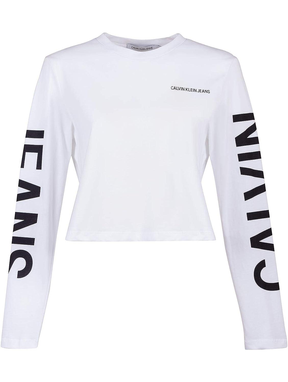 Calvin Klein Damen Sweatshirt Weiß Bianco: : Bekleidung