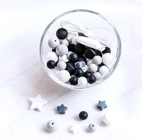 Flower Shape Silicone Teething Nursing Bracelet Teether Baby Bead Chewable 6A