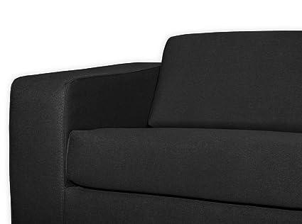 Générique usinestreet sofá diseño 3 plazas Tela Gris Oscuro ...
