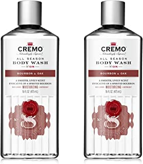 product image for Cremo Rich-Lathering Bourbon & Oak Body Wash, A Sophisticated Blend of Distiller's Spice, Fine Bourbon and White Oak, 16 Oz (2-Pack)