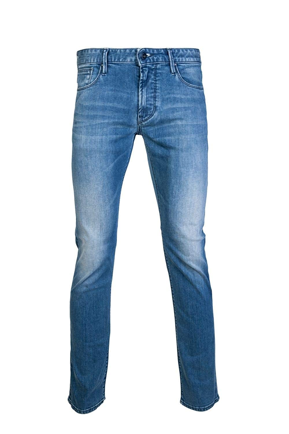 07a808434b Emporio Armani Men's Jeans Denim blu: Amazon.co.uk: Clothing