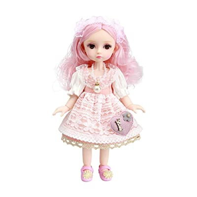 Little Bado Girl Doll 10 Inch 13 Removable Joints Dolls For Age 2 3 4 5 6 7 Year Old Girls Dolls Kids Dolls For Girls Baby Cute Doll Toy With Clothes And Shoes Great Birthday Gift For Boys Girls Emily: Toys & Games