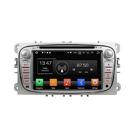 Kunfine Android 8.0 Octa Core Coche DVD GPS navegación Multimedia Reproductor estéreo Coche para Ford Focus