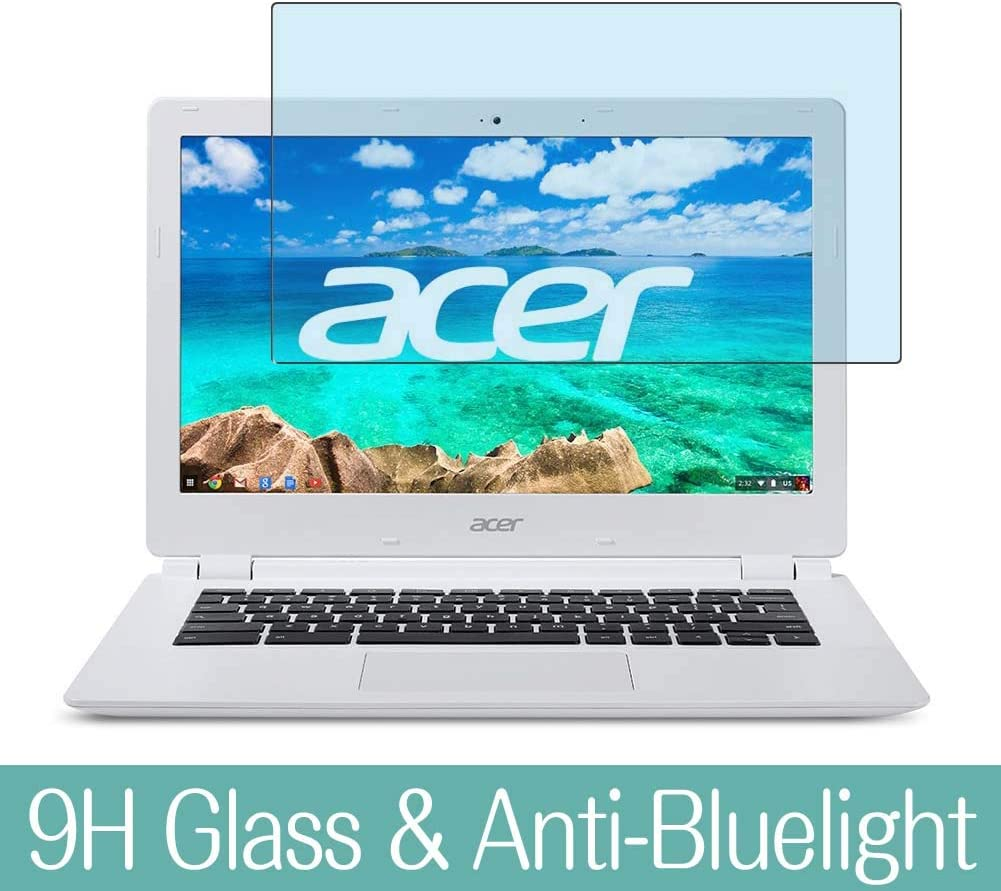 """Synvy Anti Blue Light Tempered Glass Screen Protector for Acer Chromebook CB3-111-H14M 11.6"""" Visible Area 9H Protective Screen Film Protectors"""
