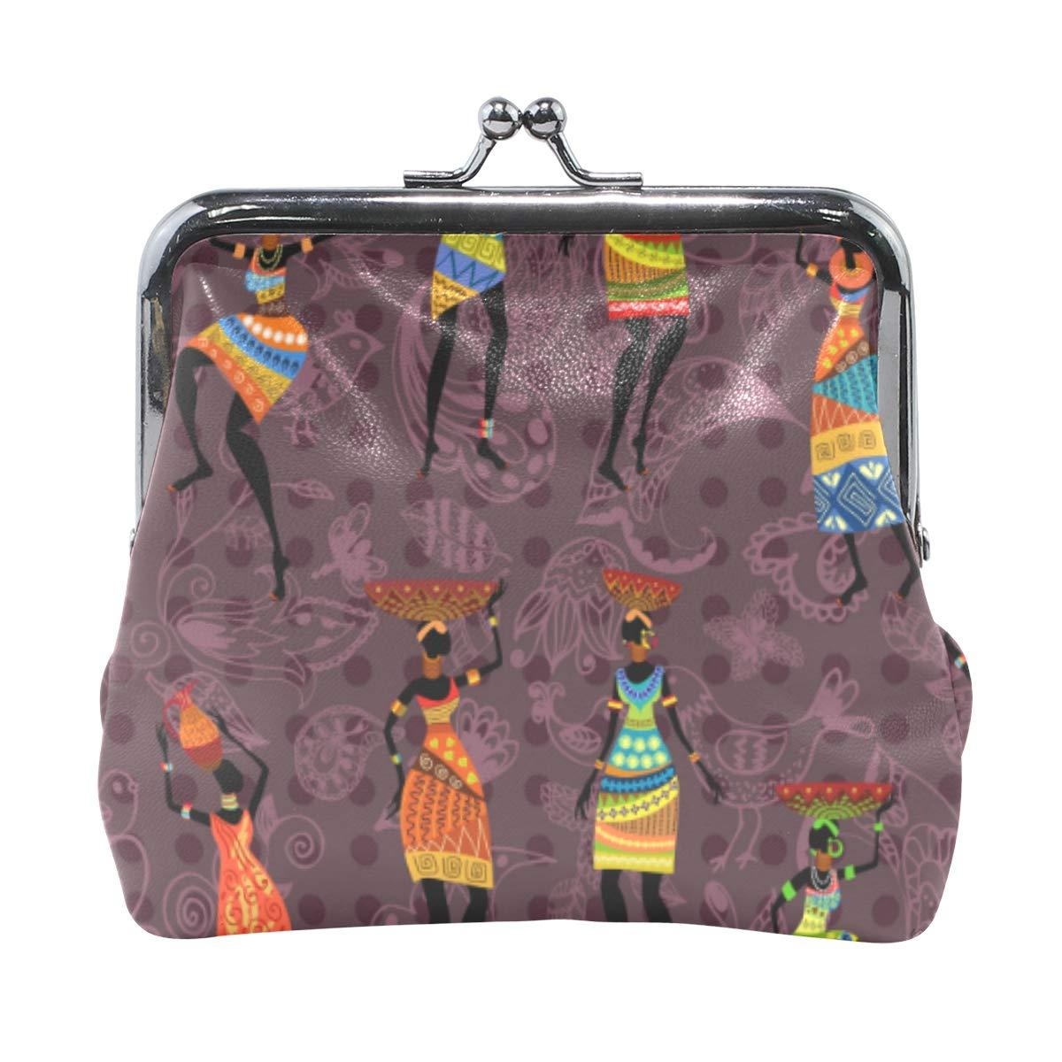 Fashion Womens Coin Purse Retro African Women Vintage Vintage Pouch Mini Purse Wallets
