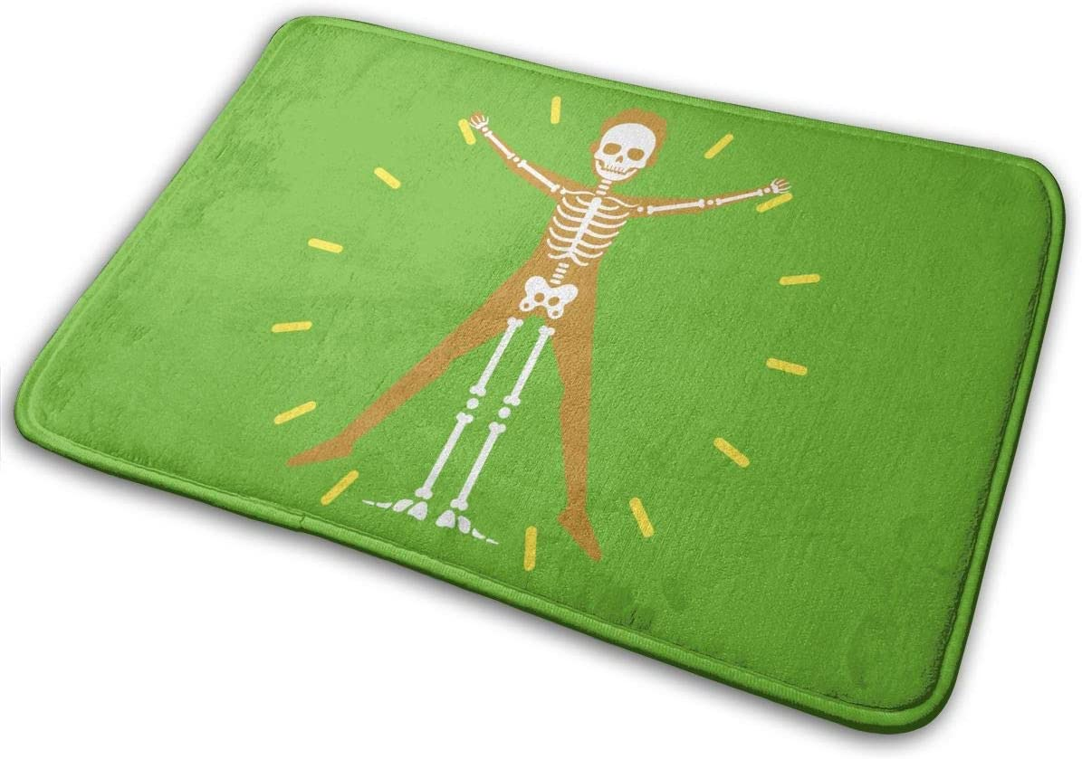 Zcfhike - Alfombrilla Antideslizante para Puerta, diseño de Esqueleto médico
