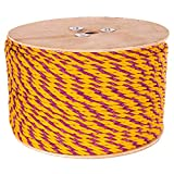 Golberg Twisted Polypropylene Rope – 1/4, 5/16, 3/8, 1/2, 5/8, 3/4, 1, 1-1/4, 1-1/2 and 2 Inch Diameters – 10-1200 Foot Lengths – Resistant to Moisture, Chemicals, Oil, and Rot – Marine, Nautical