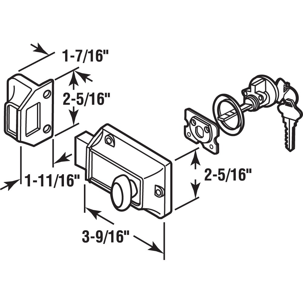 Prime-Line Products U 9956 Single Rim Deadlock