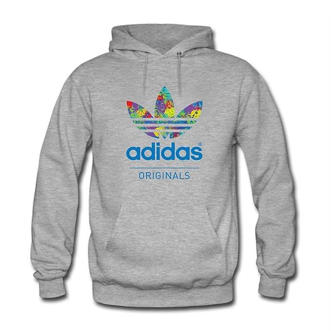 Colorful Adidas - Sudadera con capucha - para mujer gris L: Amazon.es: Ropa y accesorios