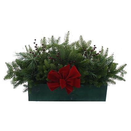 worcester wreath winter window box outdoor christmas decorations - Window Box Decorations Christmas Outdoor