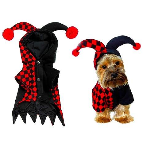 LWAN3 Disfraz de Halloween para Perro, Divertido Payaso Cosplay ...