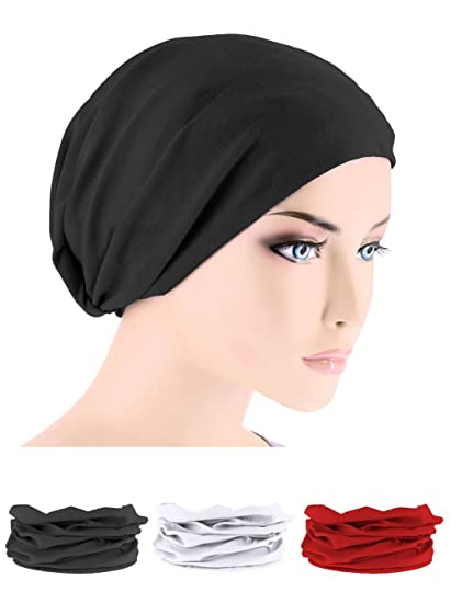 Chemo Head Wrap Tube Scarf for Cancer in Black 536726db560