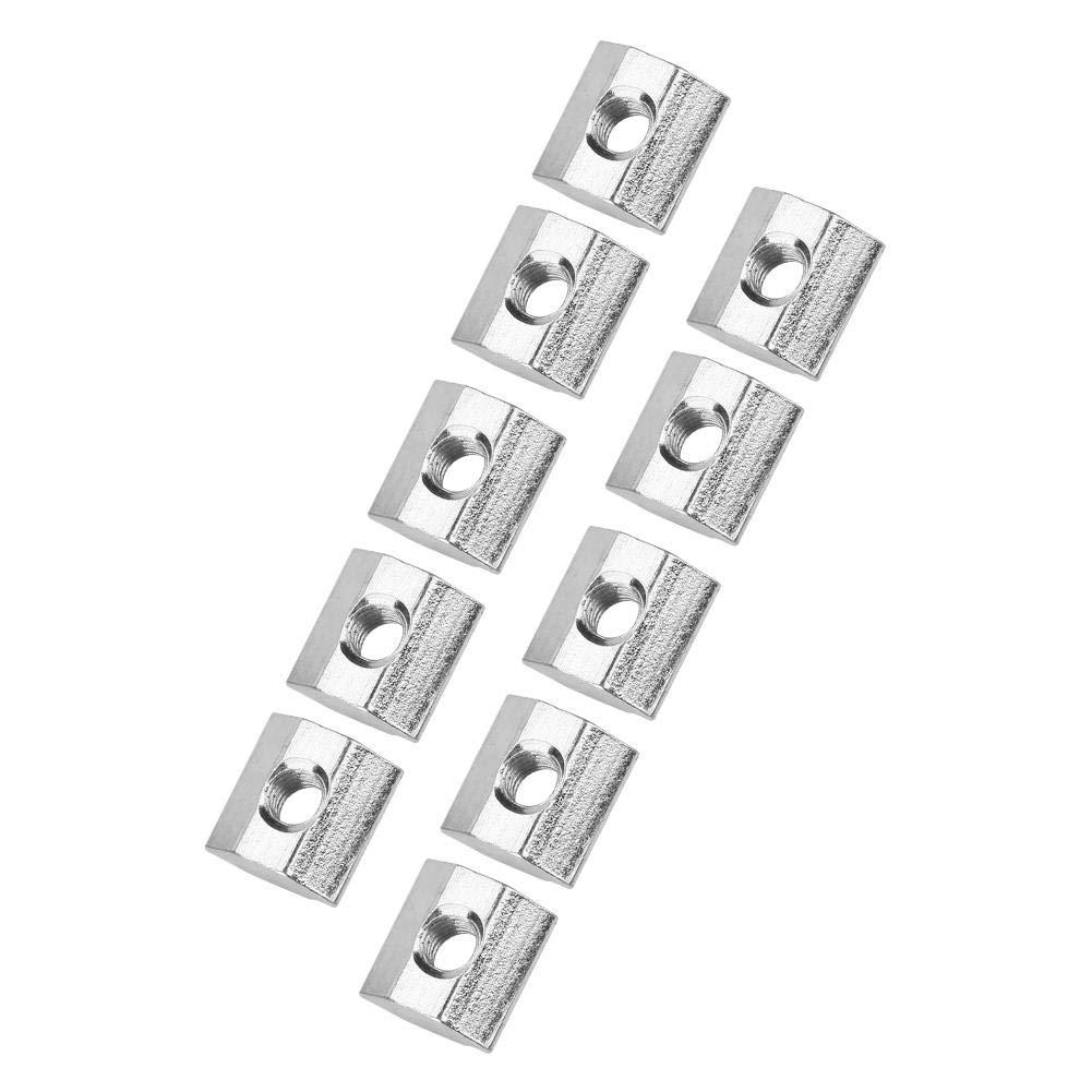 5 Schiebe-T-Schlitzmutter aus Kohlenstoffstahl f/ür Aluminiumprofile der Serie 20 Zubeh/ör Hammerkopfmutter 50-tlg T-Nut-Befestigungselement M3 10 【2021 Neujahrsangebot】Taidda Hammerkopfmutter